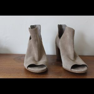 Steve Madden Nello peep toe booties - Grey suede